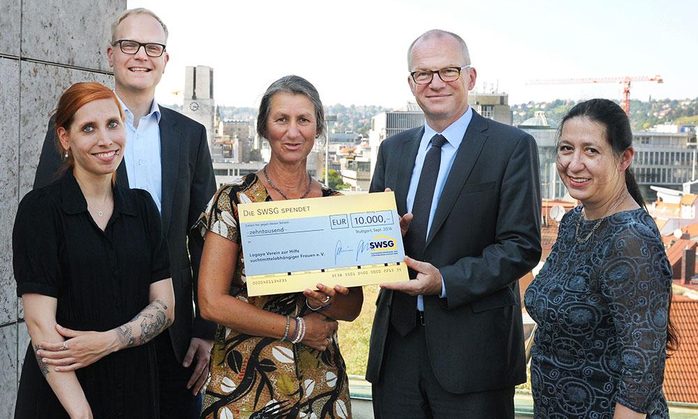 Großzügige Spende der SWSG